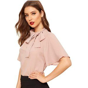 SheIn  |  casual side bow short sleeve top